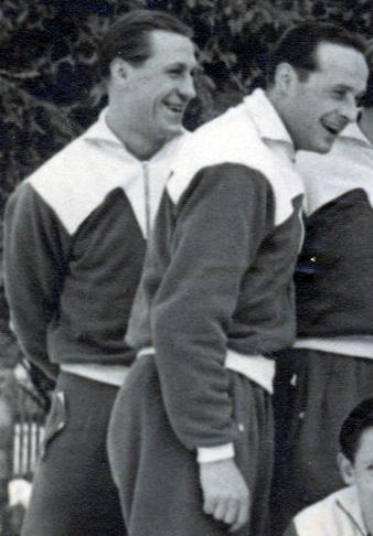 """Rudolf """"Rulle"""" Deinert (links) neben Männe Wenske."""