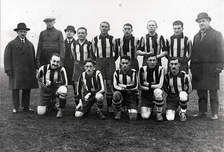 19. Oktober 1924: Club Français gegen Tennis Borussia in Paris. Foto: unbekannt; Sammlung Buschbom.